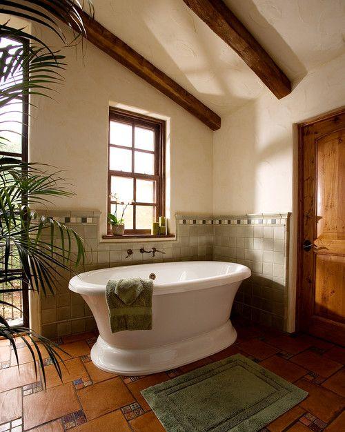Adobe Style Ranch Santa Barbara D D Ford Construction Bath