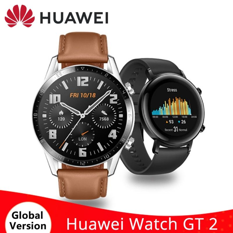 HUAWEI Watch GT 2 GT2 Smart Watch Blood Oxygen 14 Days Battery 5ATM Waterproof Bluetooth Sport Smartwatch GPS Heart Rate Monitor