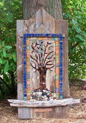 Mosaik basteln - Stein-Mosaik im Garten Mosaik Pinterest