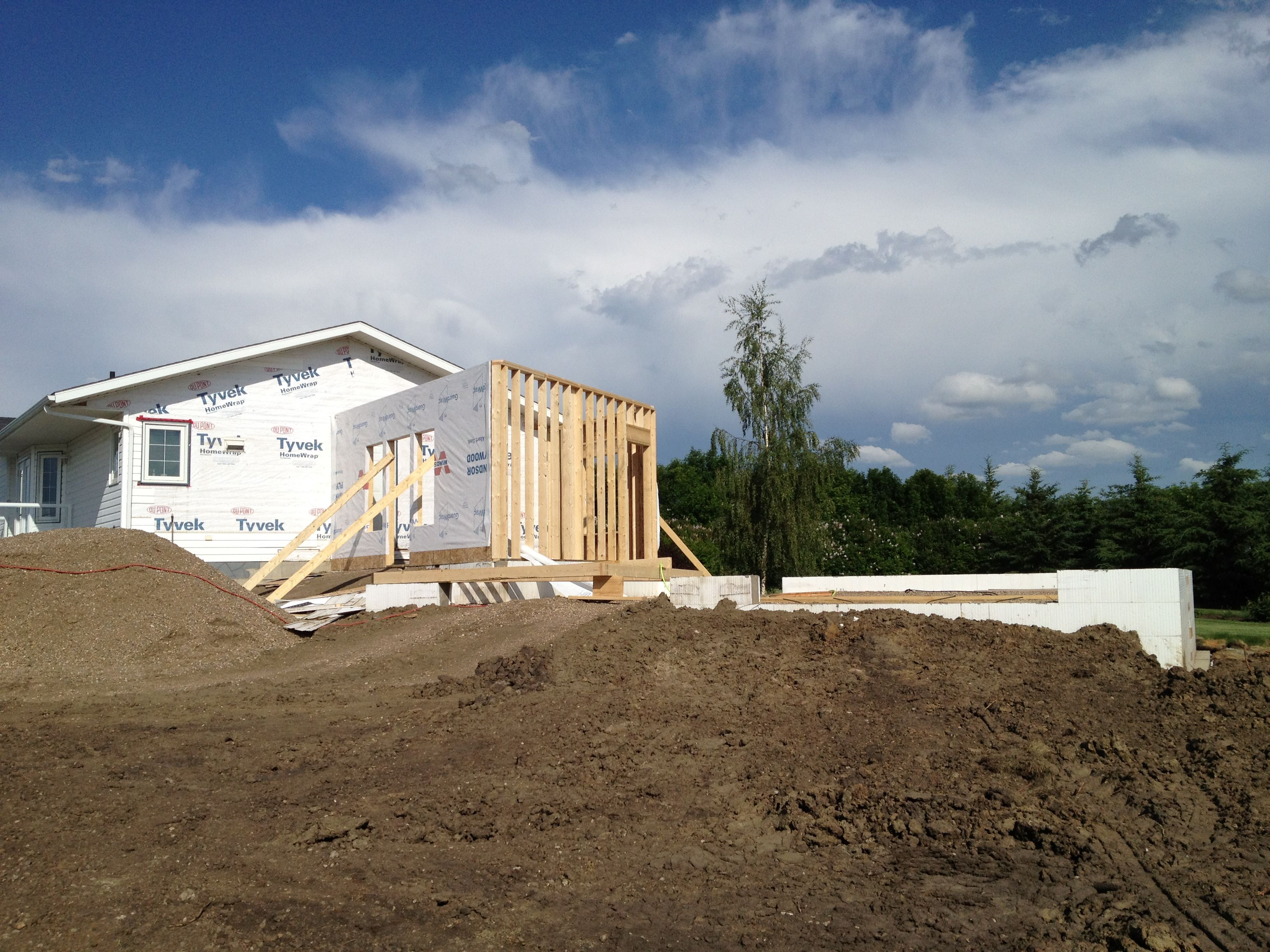 icf home designs%0A ICF frost walls on footings start the project    Entryway  u     Garage Addition    Pinterest   Garage shop