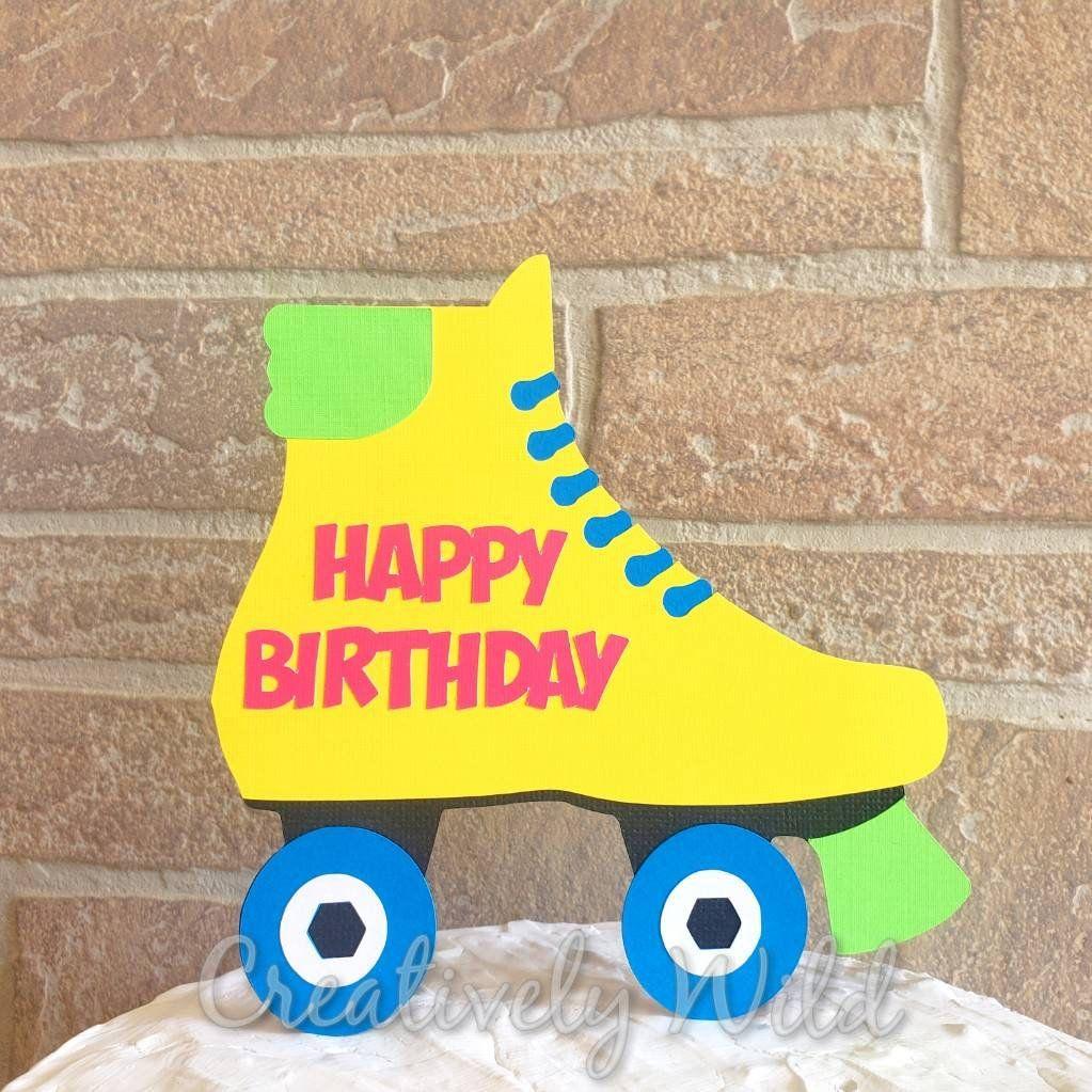 Roller Skate Cake Topper Roller Skate Birthday Party 80 S Birthday Party Decorations 80 S Cake Topper Roller Skate Party Decor Roller Skating Party Roller Skate Cake Cake Toppers