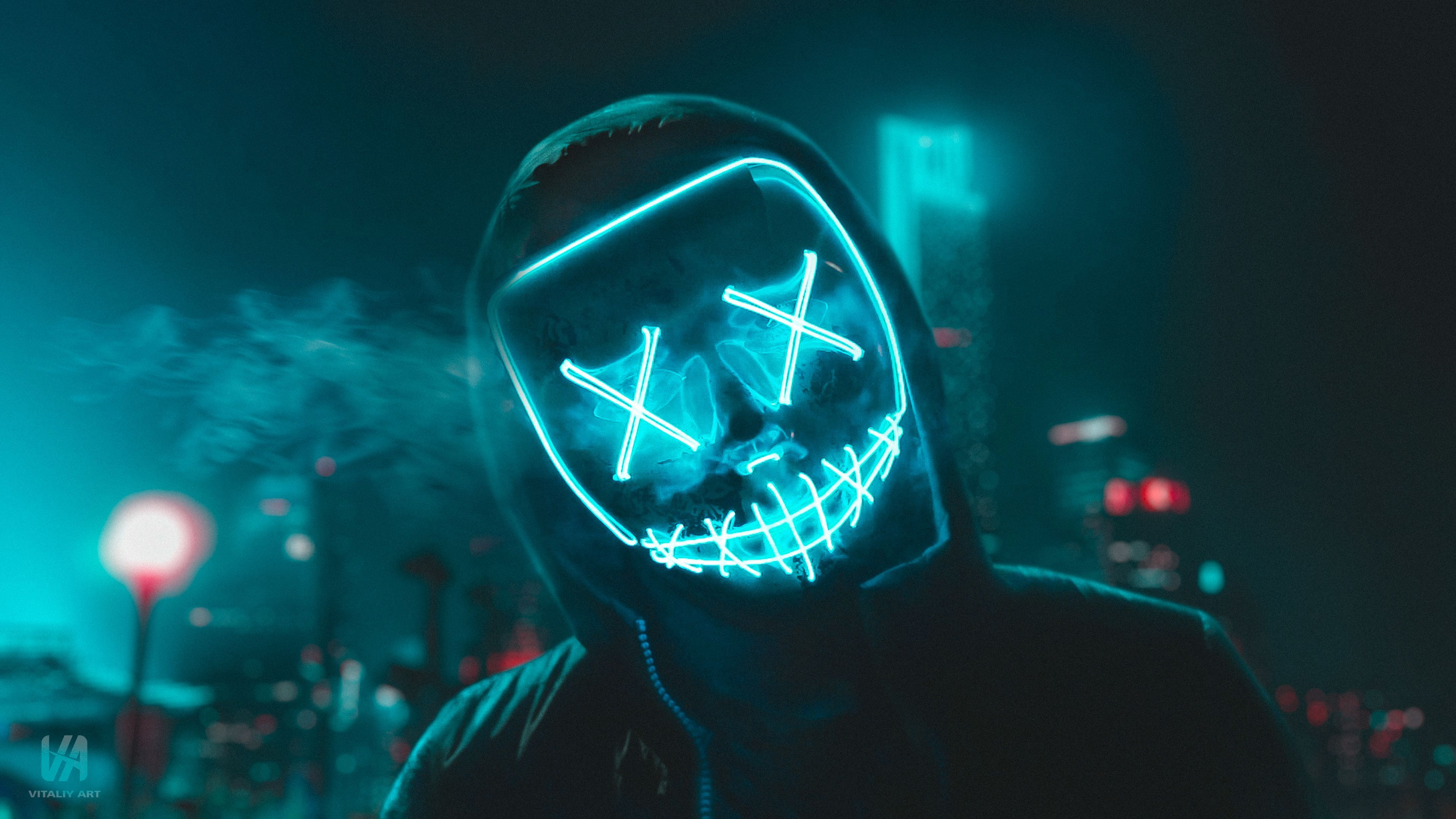 LED Mask Wallpapers Top Free LED Mask Backgrounds