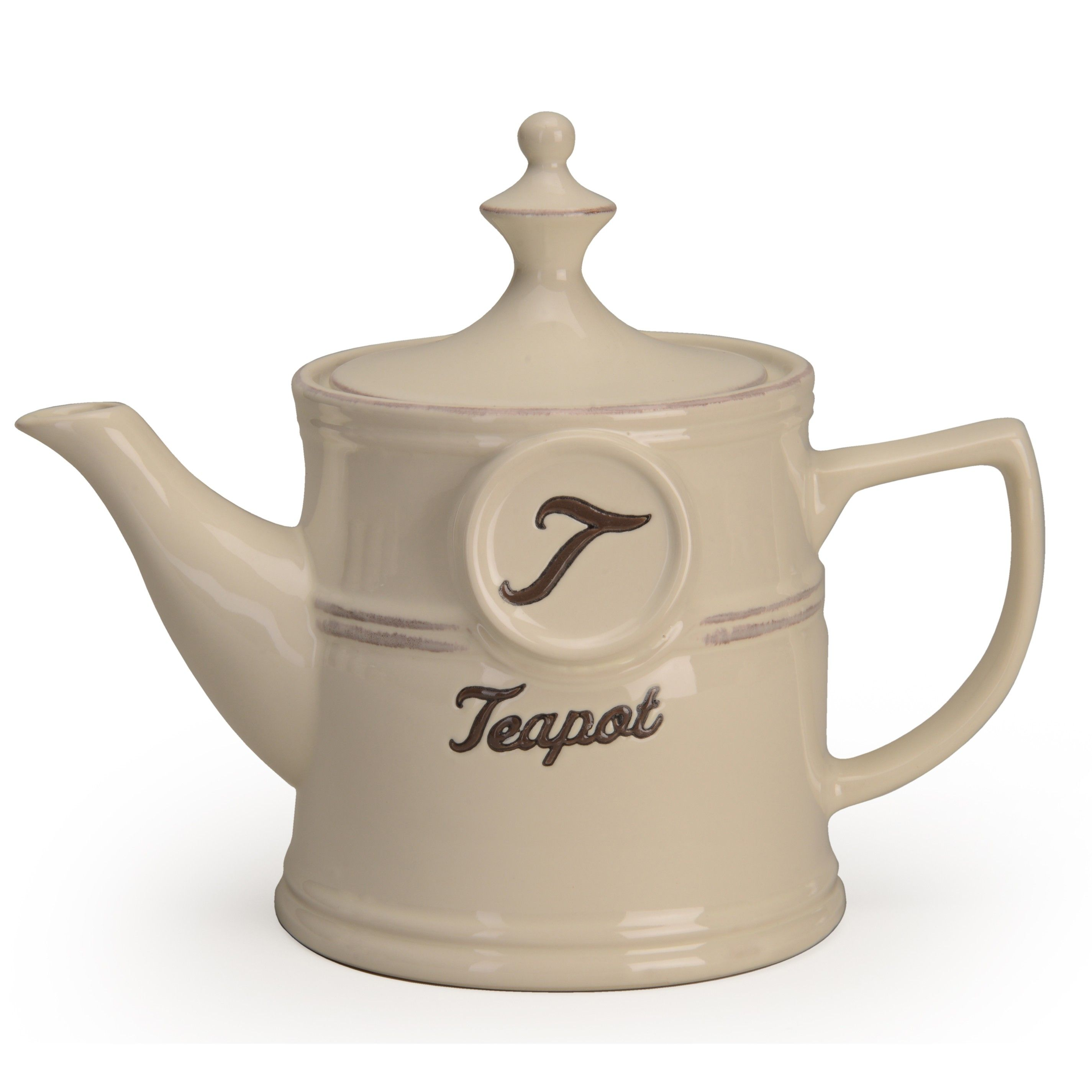 signature housewares word tea pot 30 oz everything kitchens