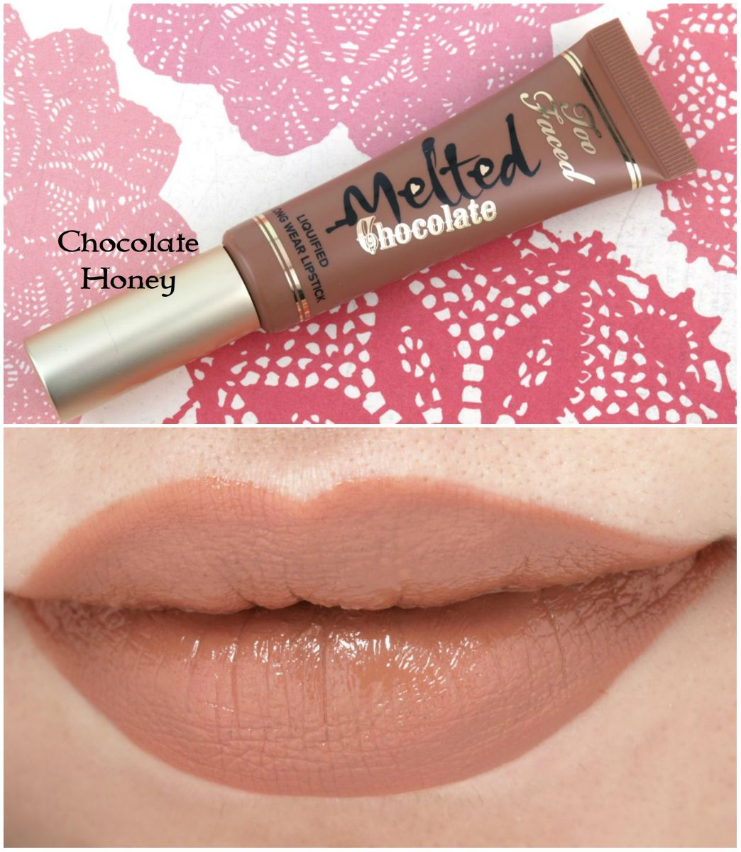 d311e1c2f84 The Happy Sloths  Too Faced Melted Chocolate Liquified Lipsticks  Review  and Swatches Beleza