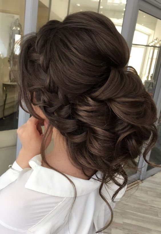 Curly Updo Wedding Hairstyle