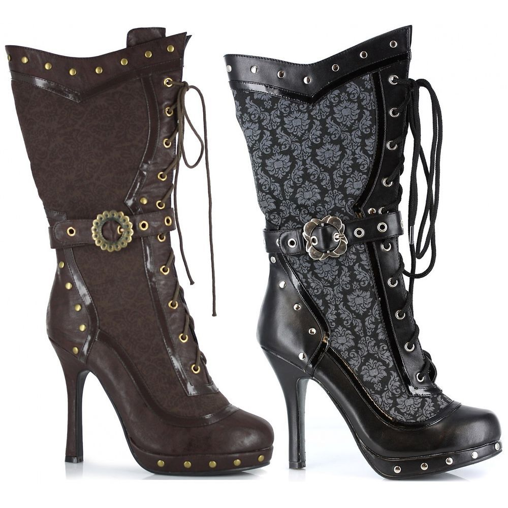 Steampunk Boots Adult Womens Victorian Shoes Cosplay Costume  | eBay