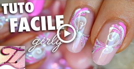 Tuto nail art facile et girly, spirales sucres de printemps