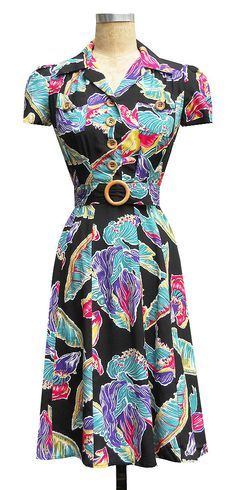 Sweetie Dress in Tropical Flowers