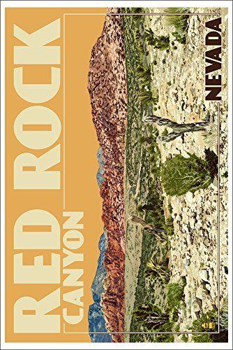 Red Rock Canyon - Las Vegas, Nevada (12x18 Collectible Art Print ...