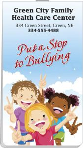 Back to school season is almost here!  Our Item of the Day is a memo book that features 8 pages of facts on how to stop bullying and 56 pages of ruled paper.