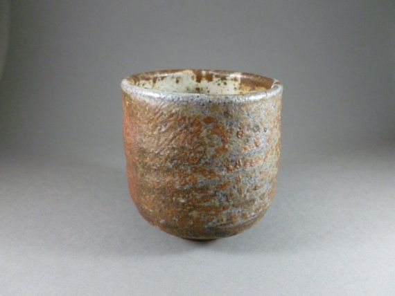 Wood Fired Anagama Kiln Japanese Style Tea Cup by HBDandPotterArts, $45.00