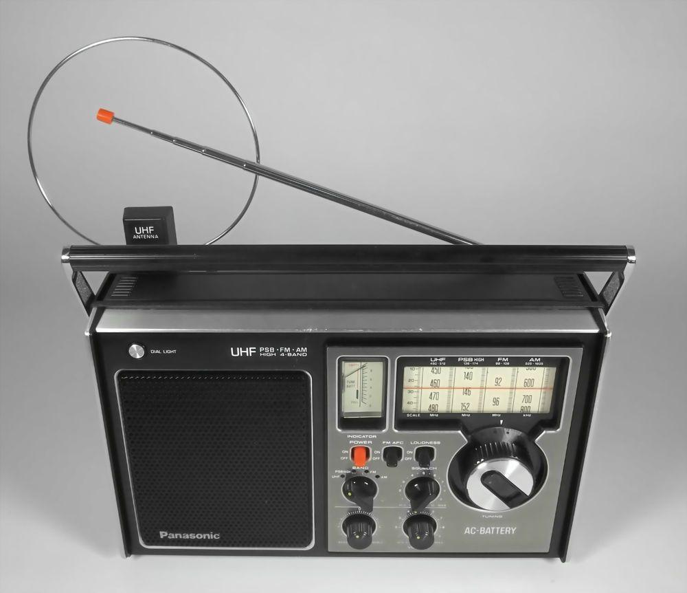 Panasonic RF-1115 Portable 4-Band Radio with Instruction Manual