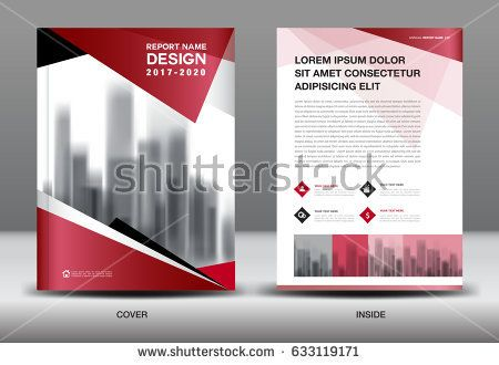 Business Brochure flyer template, Red cover design, layout in A4 - cover template