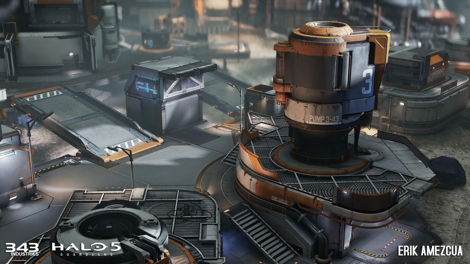 Halo 5: Guardians - Prospect, Erik Amezcua on ArtStation at https://www.artstation.com/artwork/QoJad