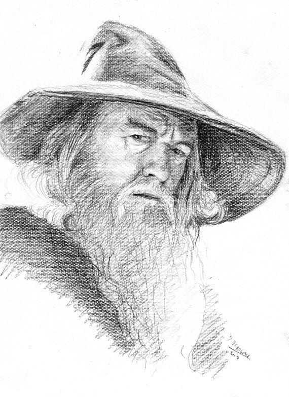 Gandalf, Hobbit - original pencil drawing from photo | Lápiz, Señor ...