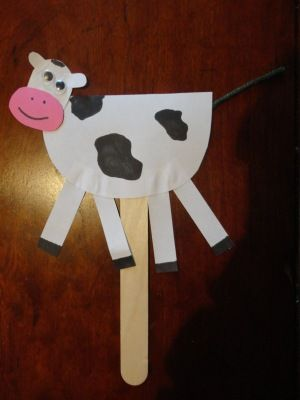 Hey Diddle Nursery Rhyme Craft Cow