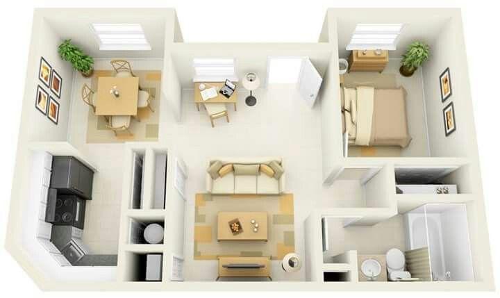 Minimalis Dominan Cokelat Denah Rumah Desain Rumah Modern Desain Apartemen