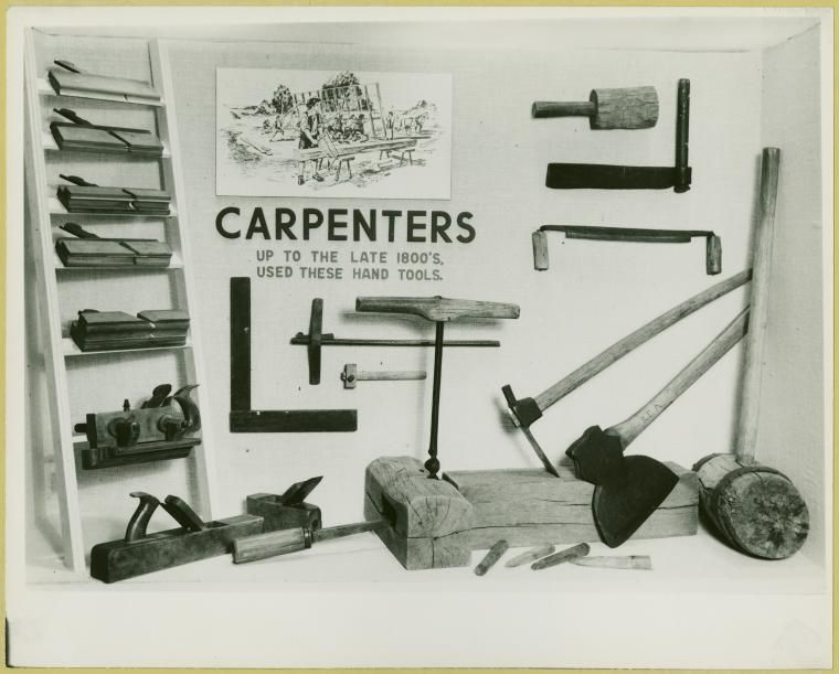Carpenters Up To The Late 1800 S Used These Hand Tools Id 1635940 Nypl Digital Gallery Hand Tools 1800s Tools