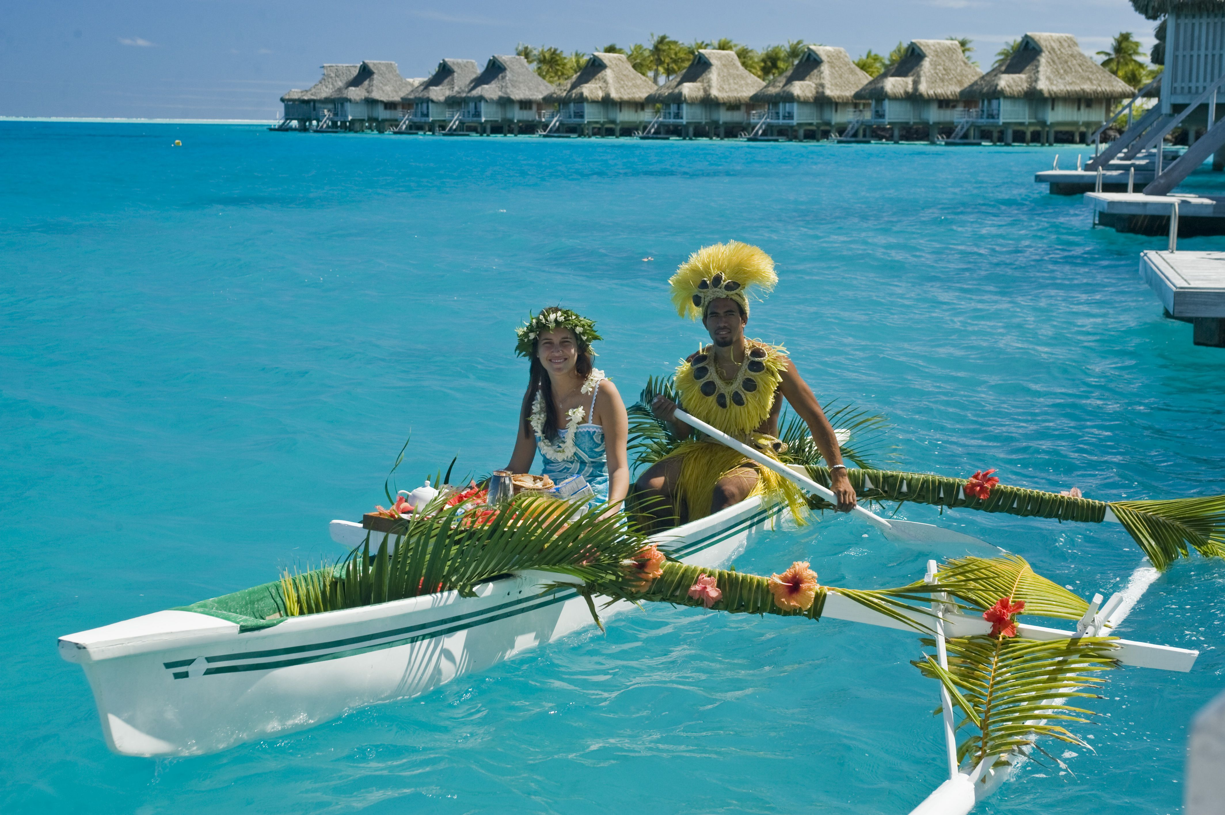 Canoe Breakfast Islands In The Sun With Images Bora Bora