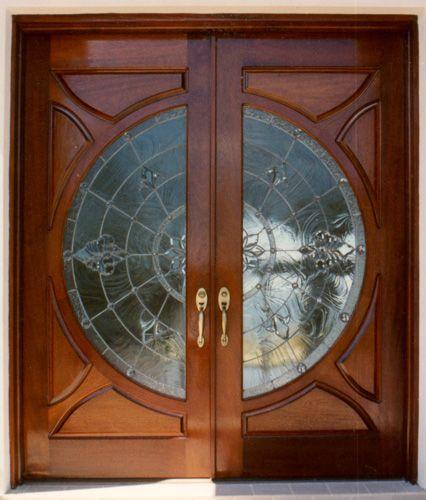 Big Circle Door Glass Design Wood Front Entry Doors Entry Doors