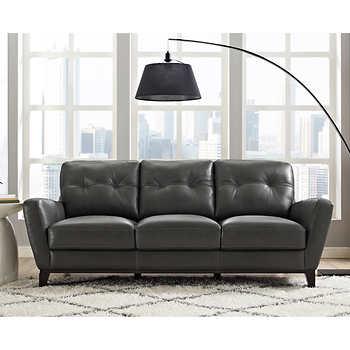 Natuzzi Group Mills Leather Sofa Full Grain Leather Sofa Leather Sofa Top Grain Leather Sofa