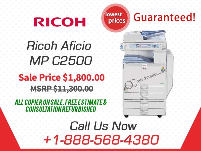 Buy Ricoh Aficio MP C2500 Copier, Printer, Scanner with Fax - how to format a fax