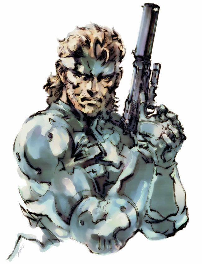 Mgs2 Solid Snake Portrait Yoji Shinkawa Metal Gear
