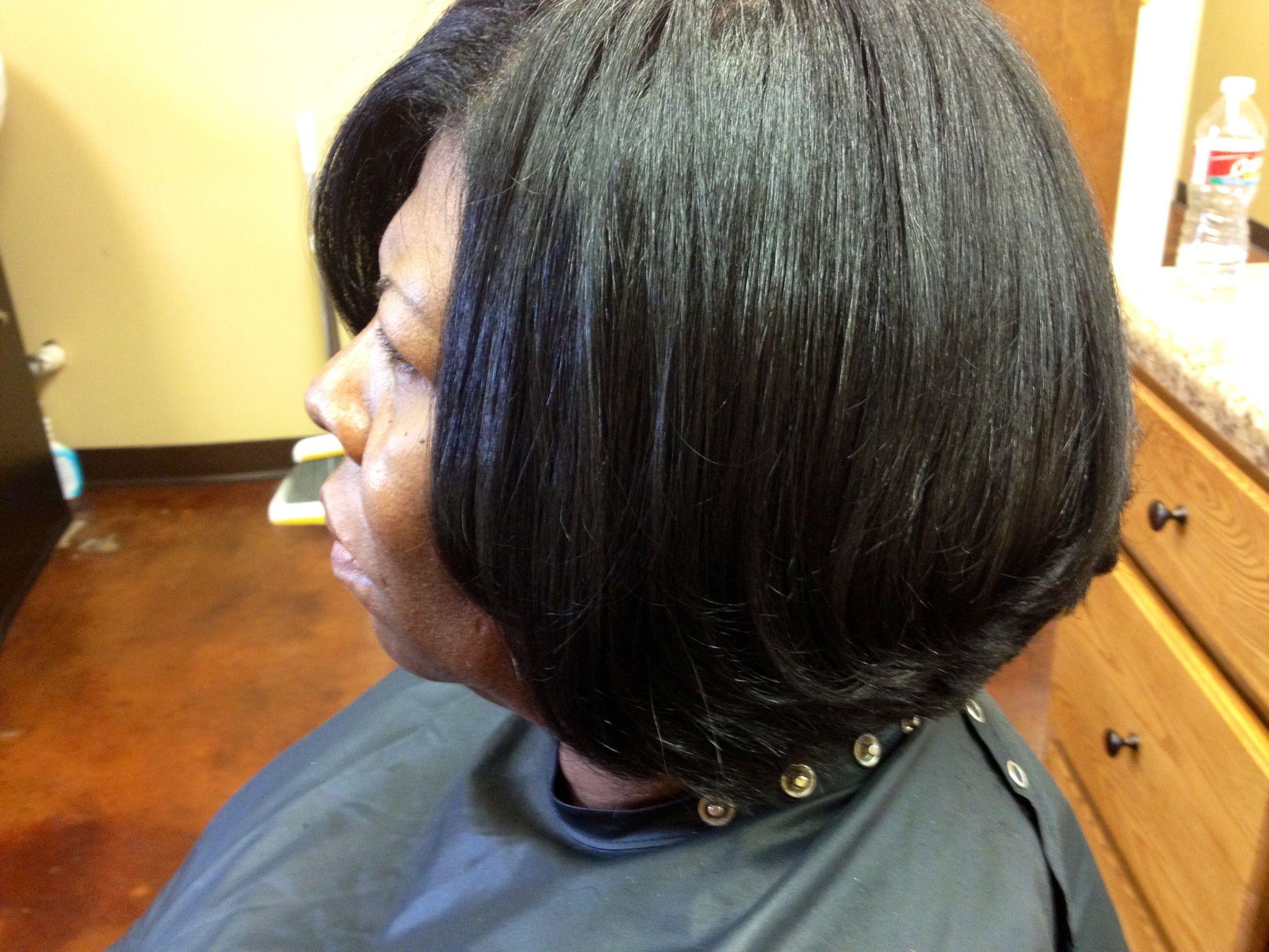 Black Hair Roller Set Styles: Bob Roller Wrap....the Better Work
