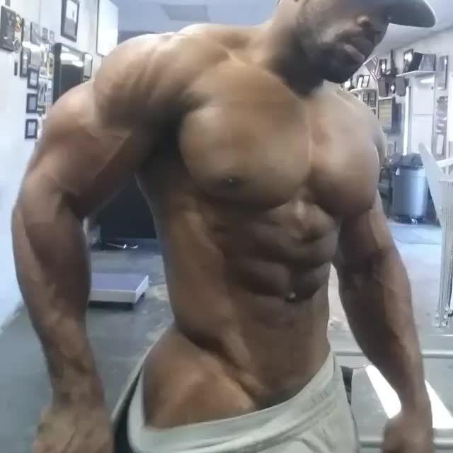 Muscle men ass