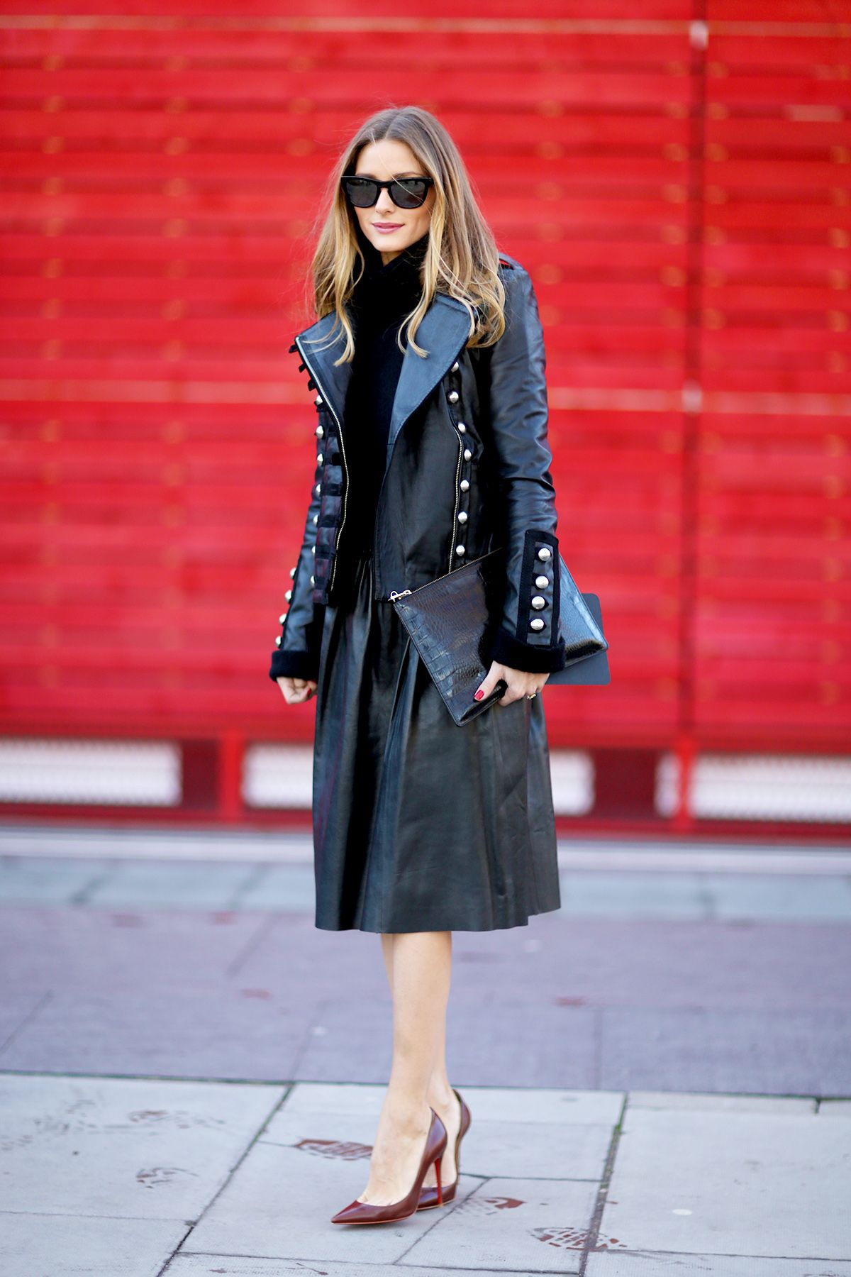 leather midi skirt (olivia palermo)