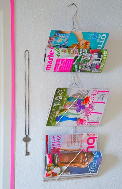 Ratzfatz Zeitschriftenhalter   Drahtbügel, Zeitschriftenhalter und ...