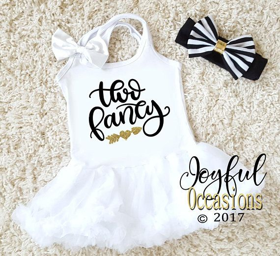 a14625d7644 2nd Birthday Tutu Dress - Cute White Black Gold Glitter Two Fancy Birthday  Girl Tutu Dresses - Secon