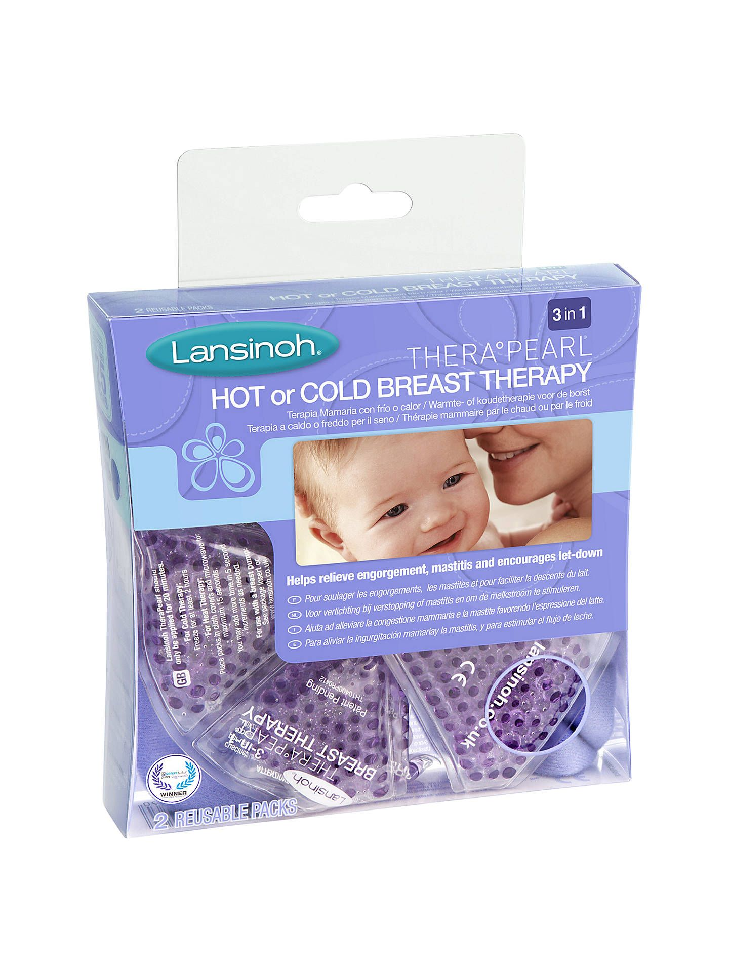 Borst Verlichting Lansinoh Therapearl 3 In 1 Breast Therapy Pack Little One