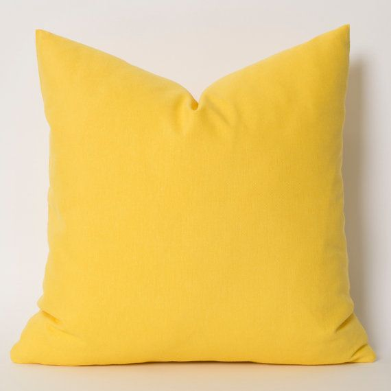 Solid Yellow Pillow for bedset #2