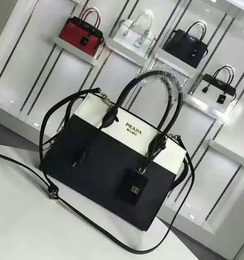 4310c07c Cheap Prada bags 2016 Prada Esplanade Saffiano and calf leather bag ...