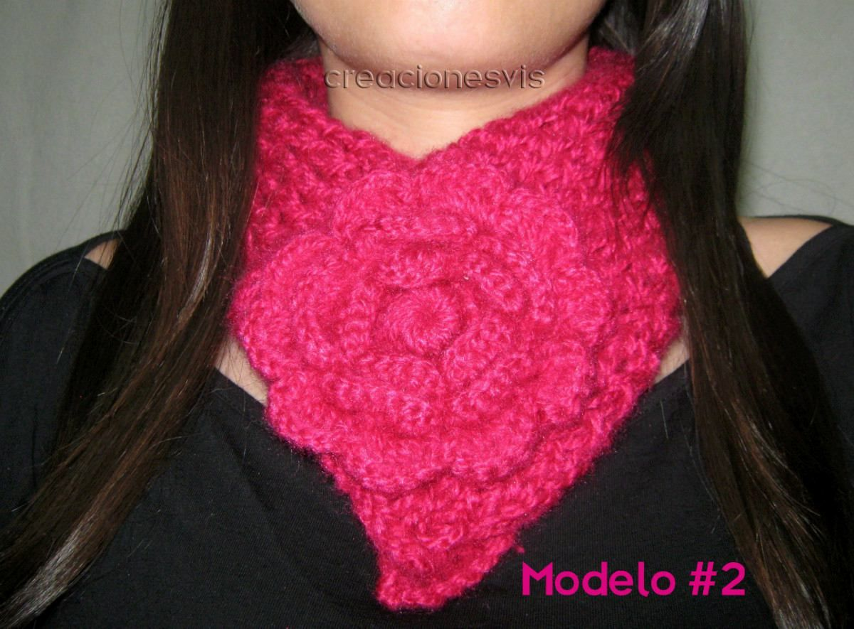 cuello bufanda tejido a mano ms modelos y colores en