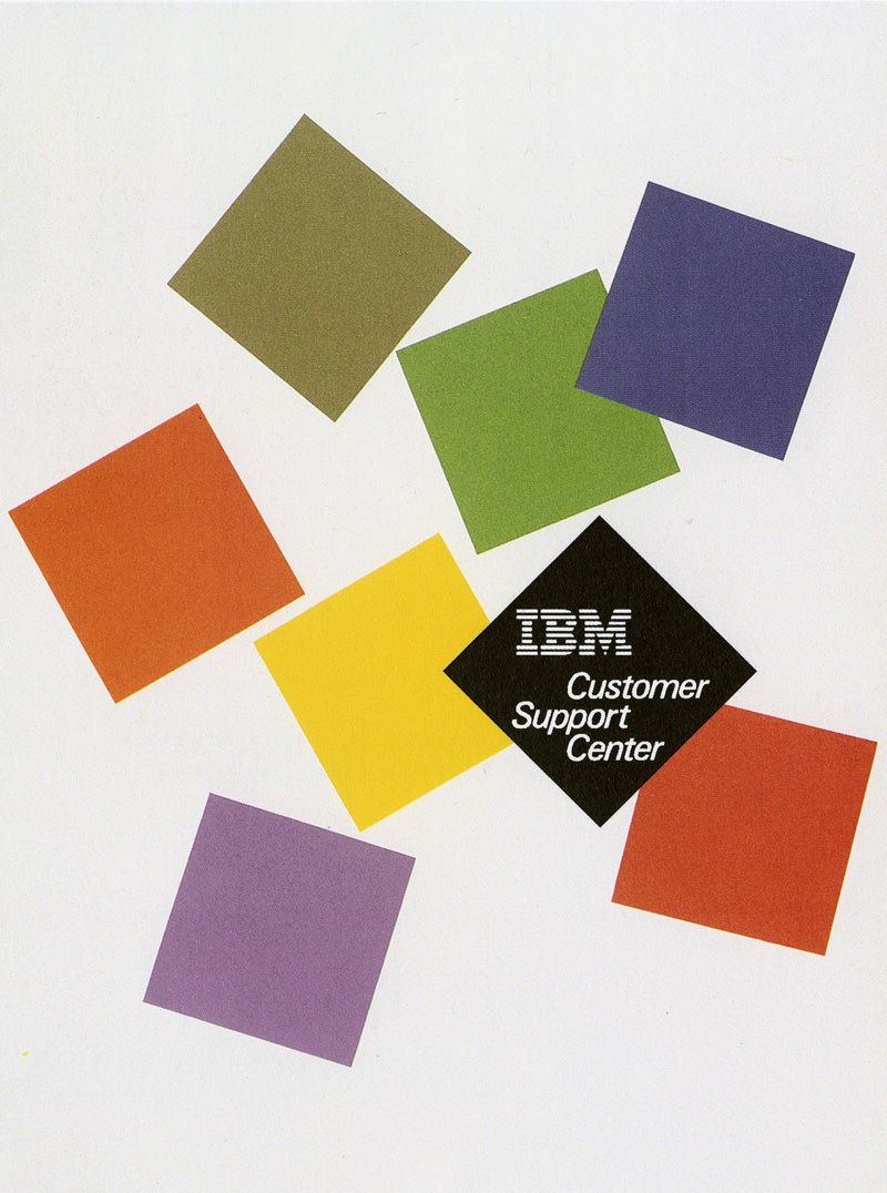 Paul Rand IBM Poster repinned by Awake — http://designedbyawake.com