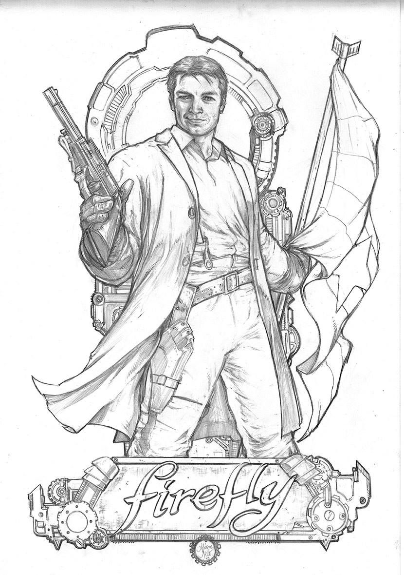 Firefly - Captain Malcolm Reynolds by Adriana Melo * | Coloring ...