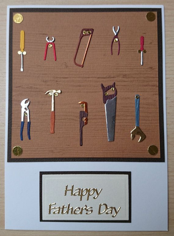 Handmade fathers day card for your diy dad featuring lots of memory handmade fathers day card for your diy dad featuring lots of memory box tools hanging up saws pliers wrench hammer screwdrivers m4hsunfo