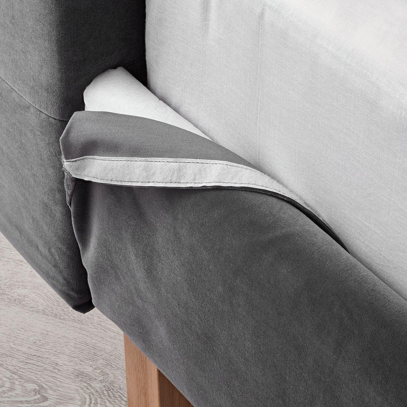 Best Ikea Kvalfjord Sandbacka Dark Gray Luröy Bed Frame In 640 x 480