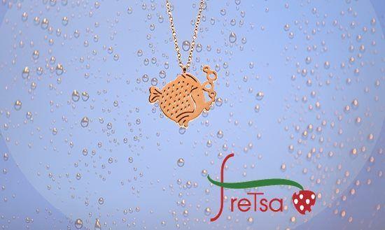 #colgante #fretsa en acero. original colgante en acero, ideal para las peques y para mayores.  http://goo.gl/OjlMdH