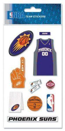 new arrival ac987 f47fd NBA Phoenix Suns Basketball Dimensional Scrapbook Stickers ...