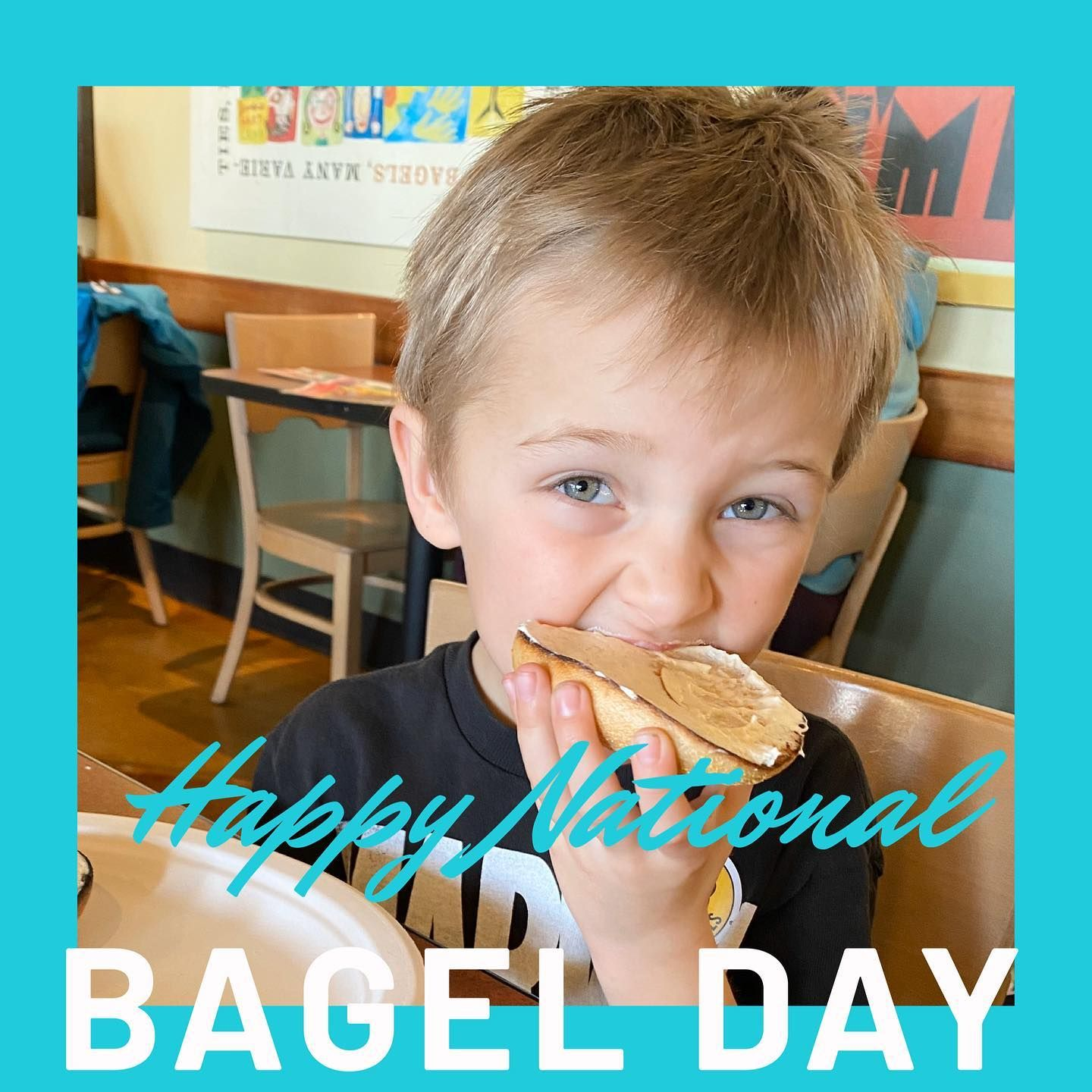 Bagels Are Perfect For A Slumber Party Morning We Had To Go Enjoy Some Yummy Bagels Einsteinbros This Morning Carson Went For The Plai Bagel Yummy Breakfast