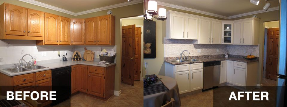 Image Result For Refinishing Kitchen Cabinets Before And After