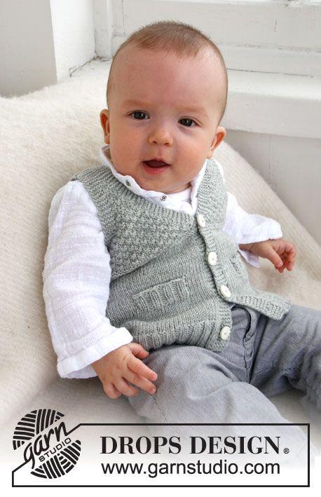 Free Pattern | Babykleding | Pinterest | Weste, Drops design und Babys