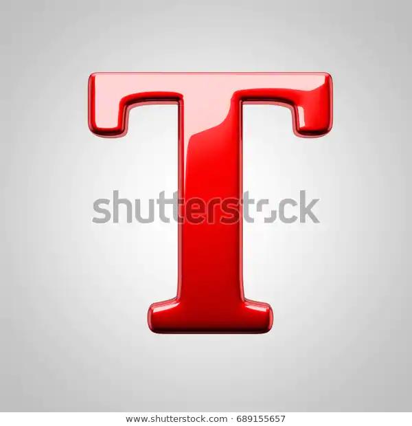 Metallic Red Letter T Uppercase 3d Stock Illustration 689155657 Stock Illustration Lettering Letter T