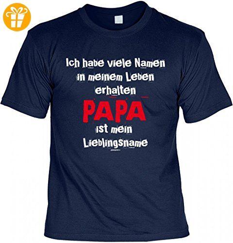 T-Shirt Vater - Papa ist mein Lieblingsname - Geschenk Idee mit Humor zum Vatertag oder Geburtstag - navyblau, Größe:S (*Partner-Link)