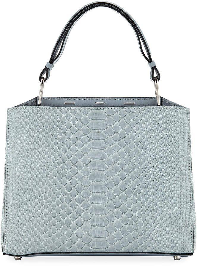 Vbh Seven 30 Shiny Top Handle Bag  Blue