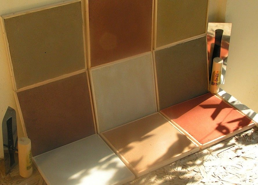 echantillons de couleur d 39 enduit terre crue chaux et terre crue pinterest. Black Bedroom Furniture Sets. Home Design Ideas