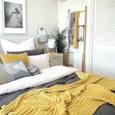 Image result for mustard yellow, grey and white bedroom ...